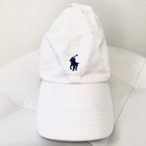 White Polo Ralph Lauren Baseball Hat
